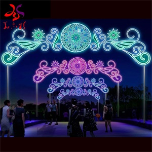 Commercial Led Christmas Lights | Huge Arch And Pattern Lighting Up