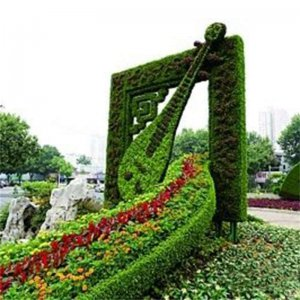 Artificial Outdoor Giant Topiary Sculpture Fake Plant Grass Boxwood Statue