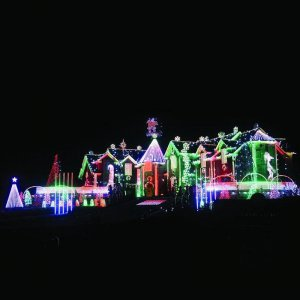 Festival Holiday Light Show With Multicolor Icicle Twinkling LED Lighting