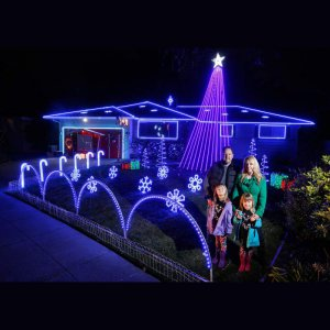 Christmas Festival Holiday Light Show With Pixel LED Tape