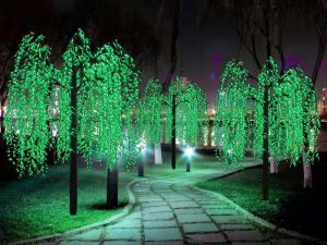 Artificial Lighted Weeping Willow with Built-in LED Light  Masterpiece Landscape